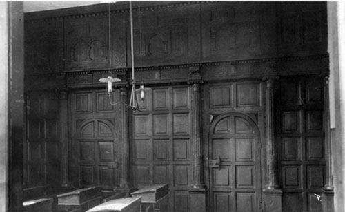The Jacobean screen in the schoolroom in South Street