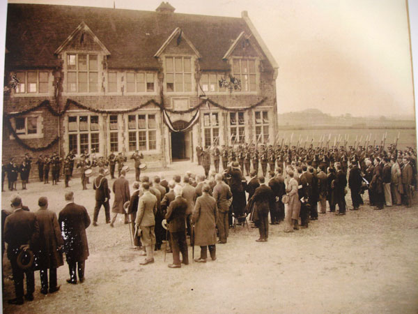 The Prince of Wales opens the new school at Fordington in 1928