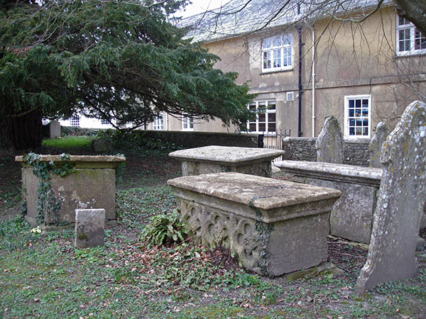The Hardye tombs in the churchyard at Sydling St Nicholas